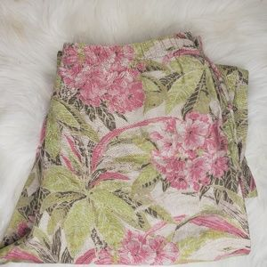 ⭐ J.Jill cropped Floral pants size M for sale